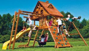 Виробництво дитячих дерев'яних майданчиків